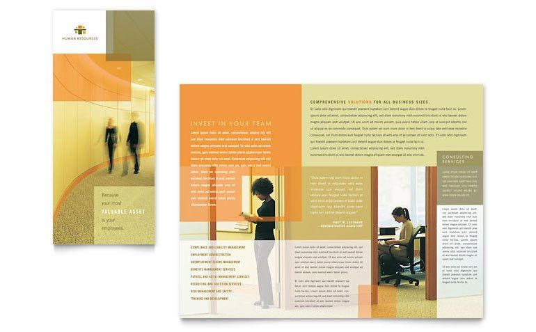 HR Consulting Tri Fold Brochure Template - Word & Publisher