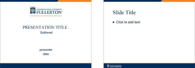 CSUF Brand Central - Powerpoint Templates