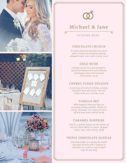 Wedding Menu Templates - Canva