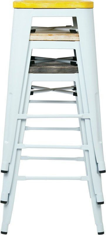 Designs Bristow 26'' Metal Barstool with Wood Seat - Set of 2 ...