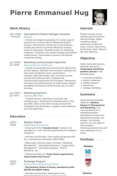 Manager Assistant Resume samples - VisualCV resume samples database