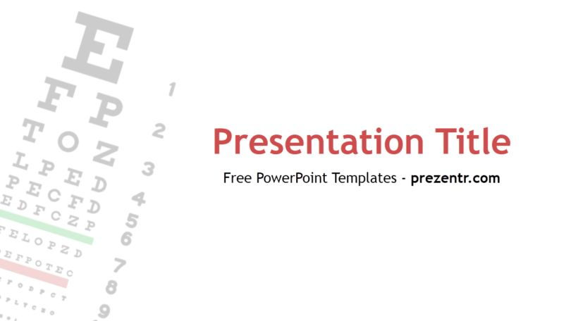 Free Vision Test PowerPoint Template - Prezentr PowerPoint Templates