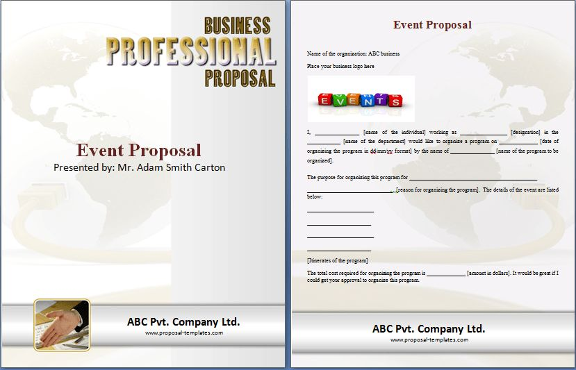 Special Event Proposal Template | Proposal Templates