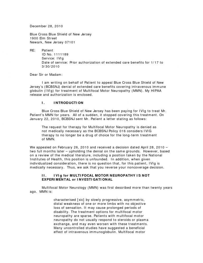 Disability Appeal Letter Resume - Schoodie.com