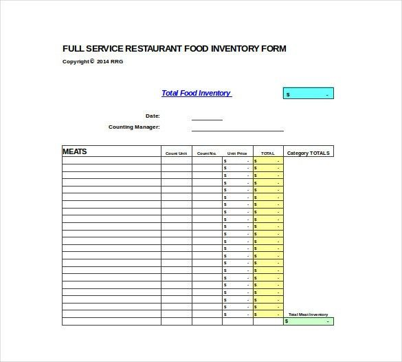 Inventory Spreadsheet Template - 15+ Free Word, Excel, PDF ...