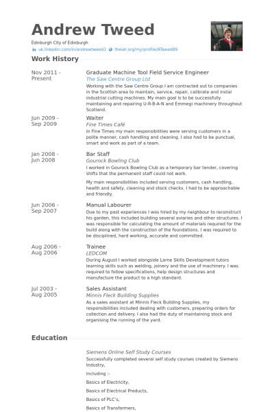 Download Field Service Engineer Sample Resume ...