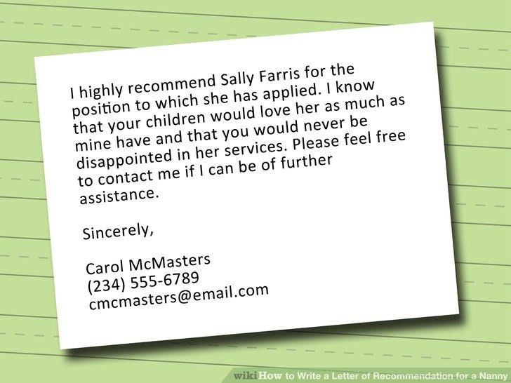 Nanny Reference Letter Sample Uk - Cover Letter Sample