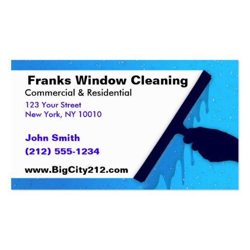 Collections of Window Cleaner Business Cards