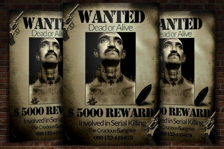 Most Wanted Criminal Flyer Template by Designhub | TheHungryJPEG.com