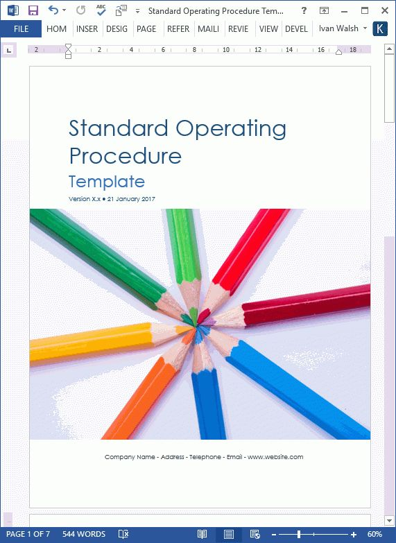 36 Page Standard Operating Procedure (SOP) Template: MS Word ...