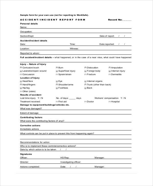 FormsAccident Incident Report. Ic-Accident-Incident-Report-Form ...