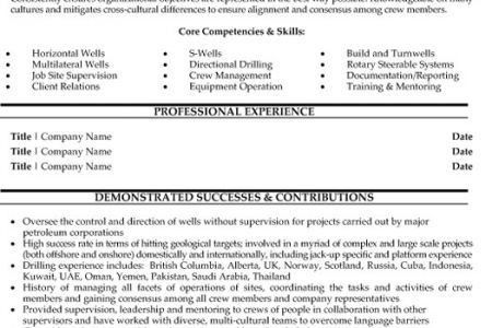 Resume For Oil Field Worker - Reentrycorps