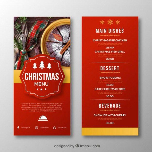 Xmas Menu Templates. food menu templatesample party menu template ...