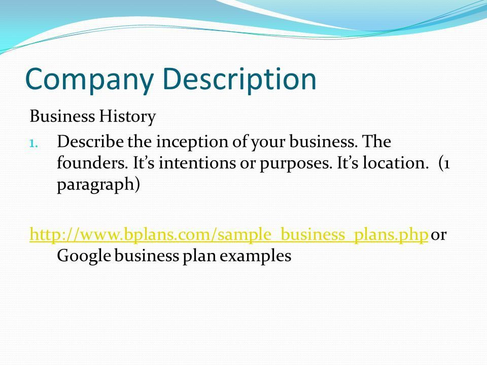 Company Description Motivations 1. Explain the reasons and ...