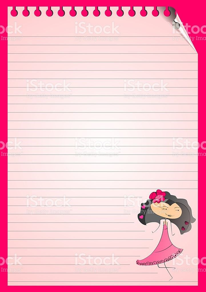 Blank Lined Note Paper Girl stock photo 527799951 | iStock