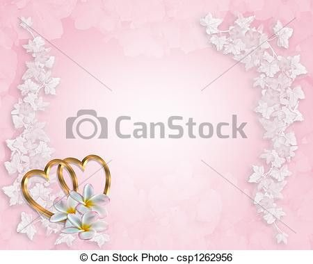 Stock Illustration of Wedding Invitation Background Pink - 3D ...