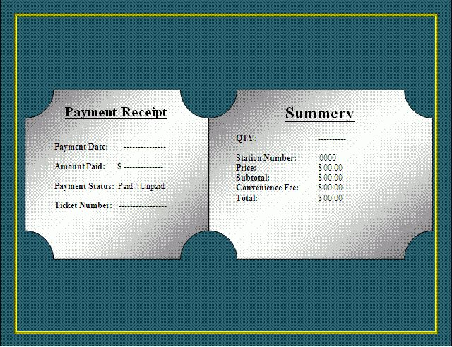 Parking Ticket Template | Free Microsoft Word Templates | Free ...