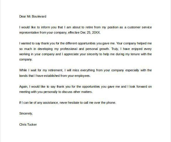 How To Write A Letter Of Resignation Due To Retirement. Image ...