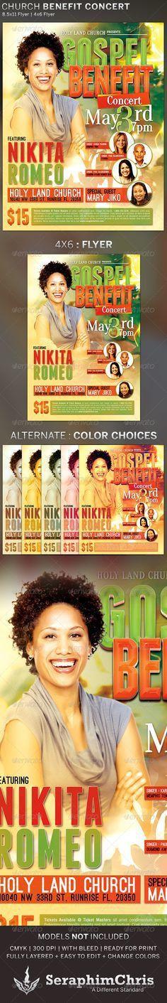 Caribbean Gospel Concert Flyer Template | Gospel concert, Concert ...