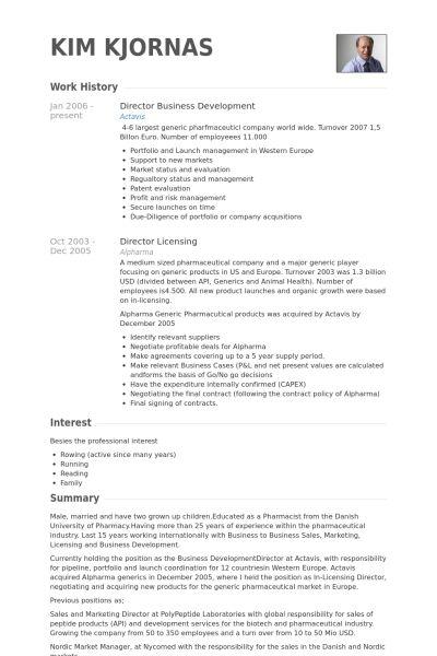 Director, Business Development Resume samples - VisualCV resume ...