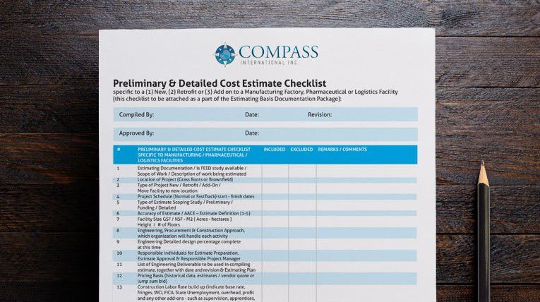 Construction Cost Estimating Data | Compass International