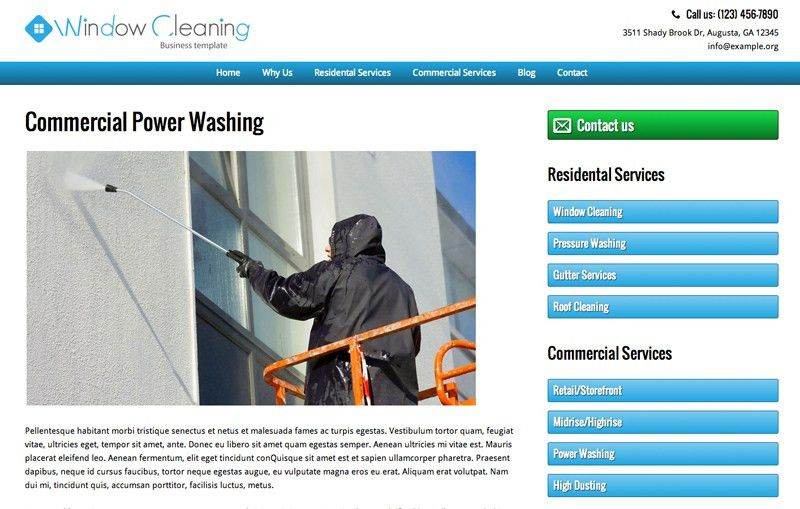 Window Cleaning Wordpress Theme - Mobile Responsive Design