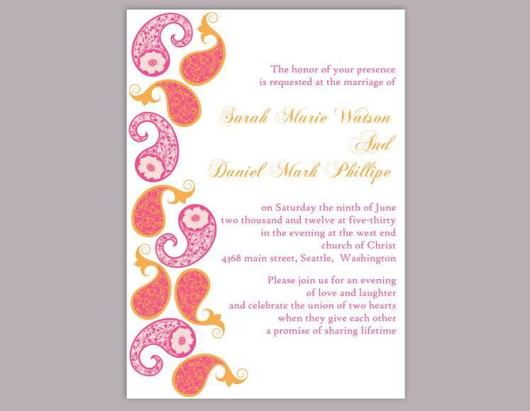 DIY Bollywood Wedding Invitation Template Editable Word File ...
