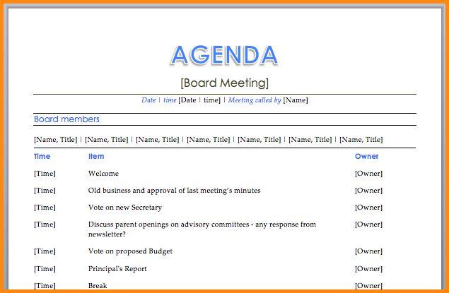 12+ meeting agenda format | workout spreadsheet