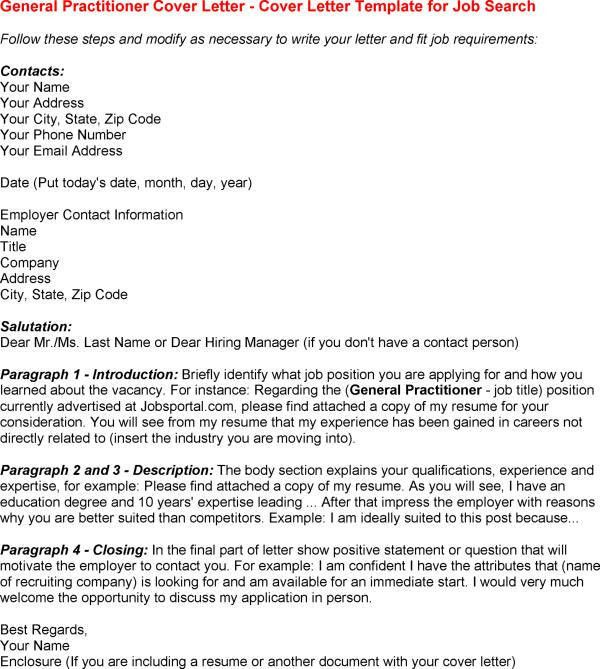 General Cover Letter Template - My Document Blog