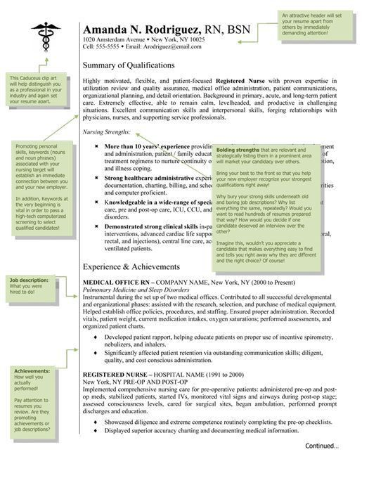 Resume Templates For Nurses. Example Student Nurse Resume - Free ...