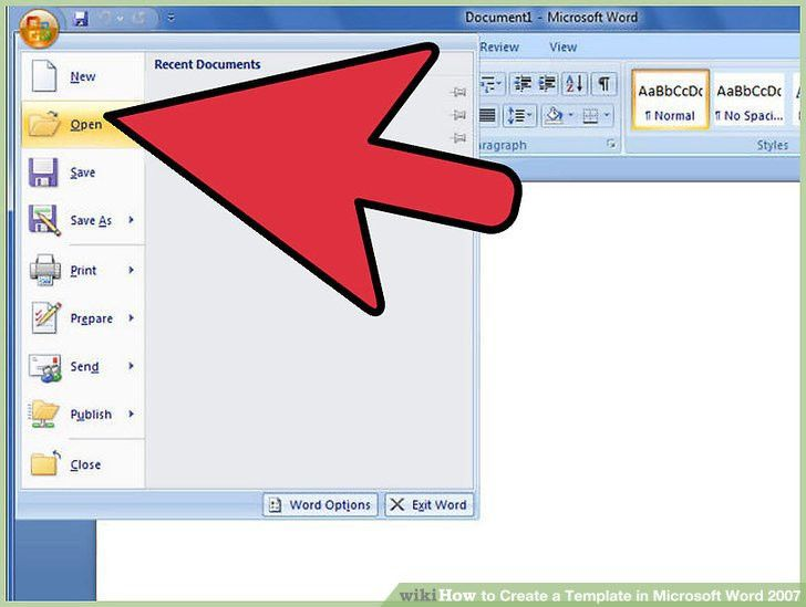 How to Create a Template in Microsoft Word 2007: 7 Steps