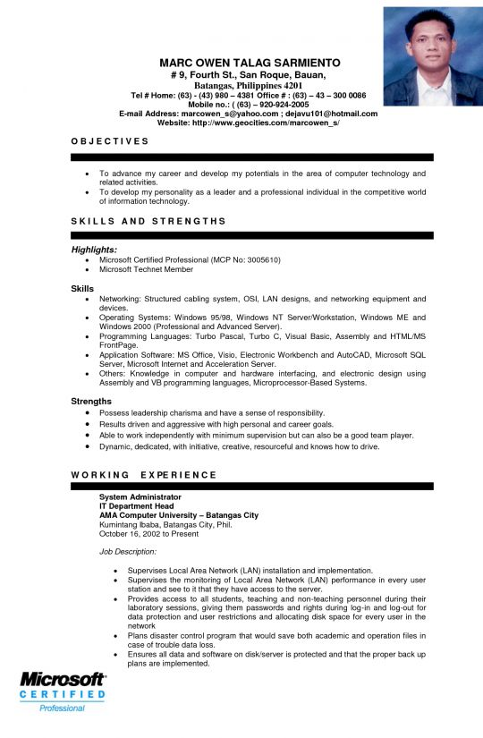 Valuable Design Ojt Resume 1 Sample Resume For OJT - Resume Example