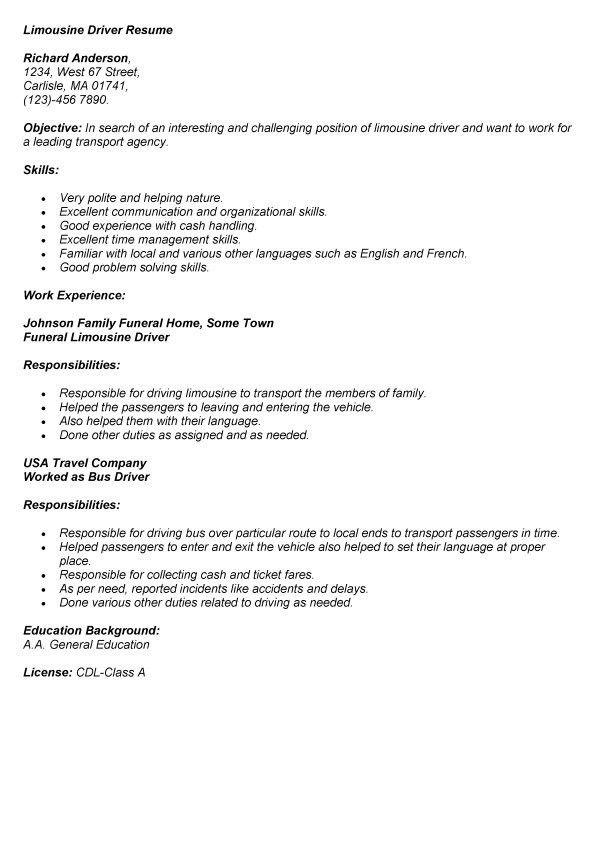 Resume Driver / Sales / Driver - Lewesmr