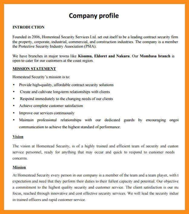 6+ company profile sample | resume setups