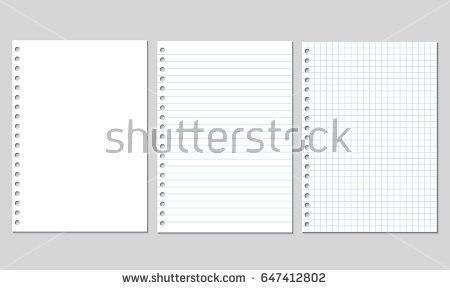 Square Lined Notebook Paper Background - Download Free Vector Art ...