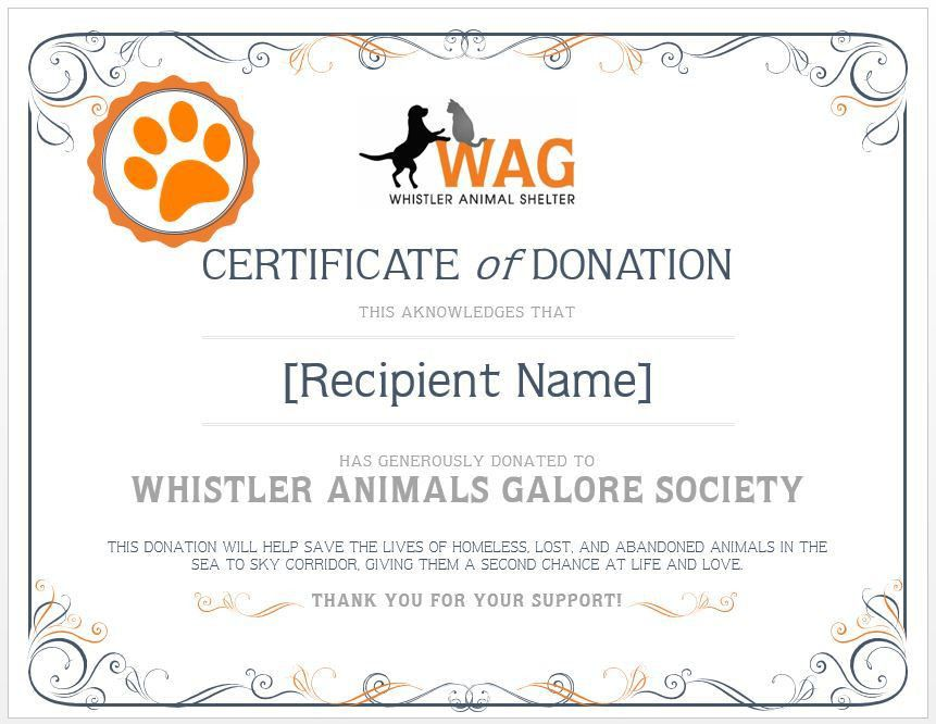 Memorial Donation | Whistler Animals Galore (WAG) | Whistler's ...
