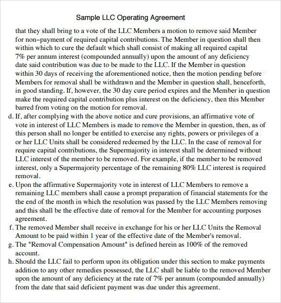 download texas llc operating agreement template llc partnership ...
