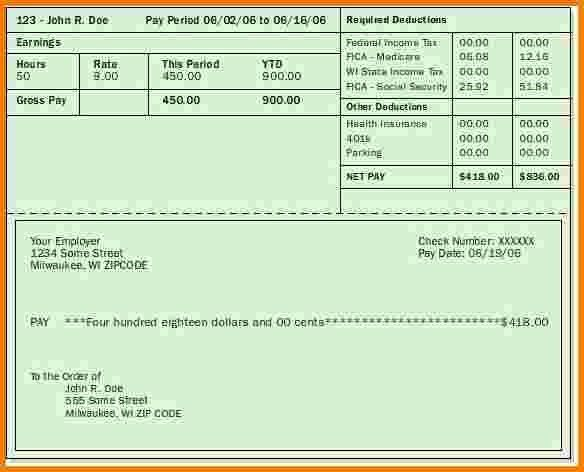 Pay Stub Paycheck Stub Templates Great Pay Stub : Selimtd