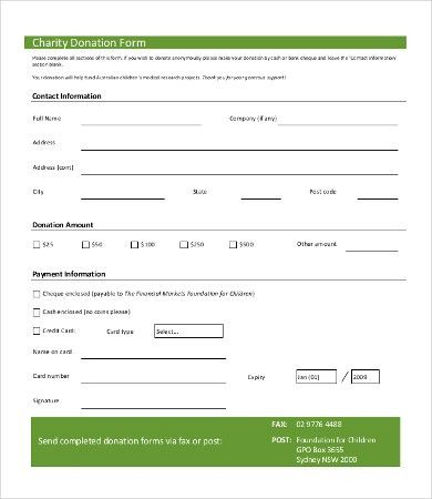 Sample Donation Request Form. Donation Form Template Service ...