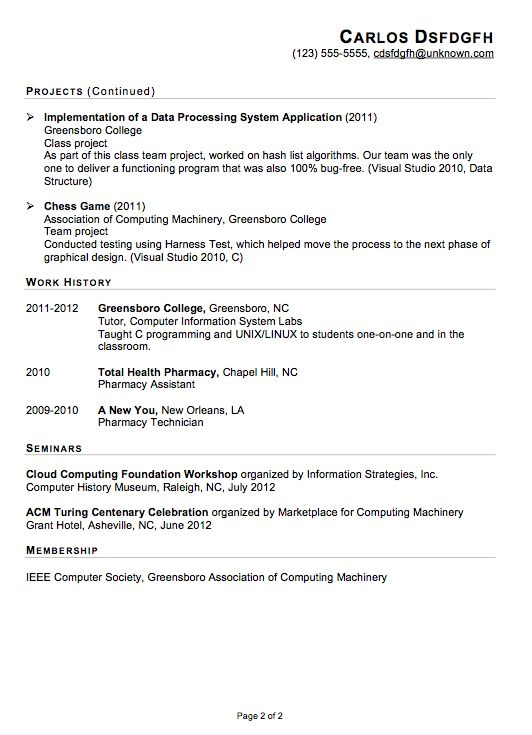 Functional Resume Sample for an IT Internship - Susan Ireland Resumes