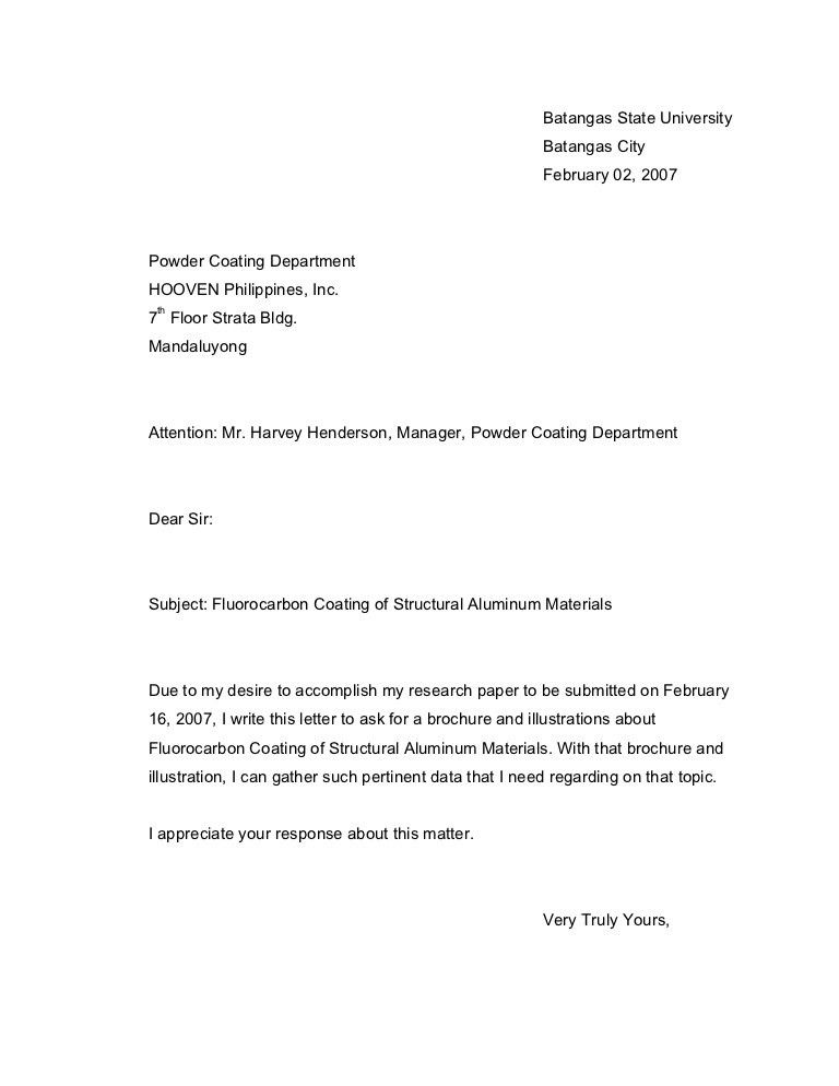 Example Inquiry Letter Example Of Inquiry Letter In Business The