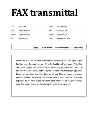 Professional Fax Cover Sheet Template. Fax Cover Sheet – 13+ Free ...