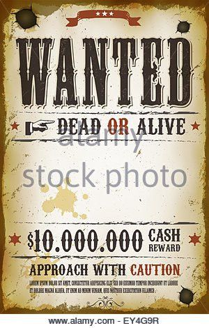 Wanted Poster Template. Wanted Poster On Wood 9 Free & Premium ...