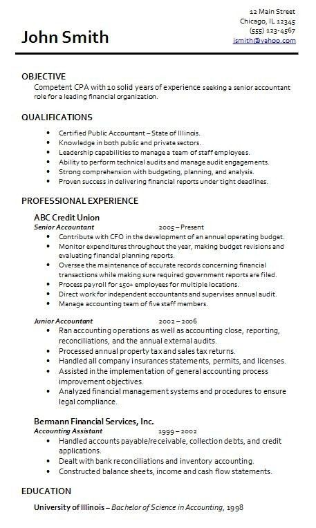 accounting resume objectives examples download accounting resume