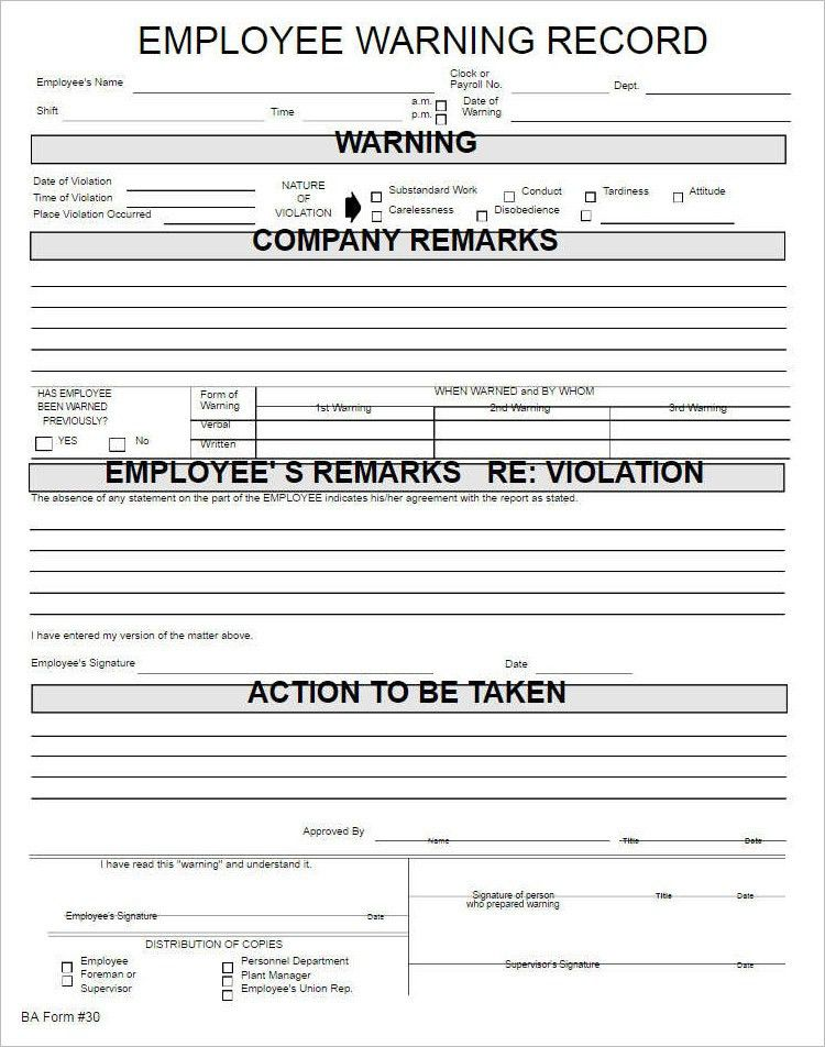 Employments Write Up Form Template - Free Word, PDF Documents ...