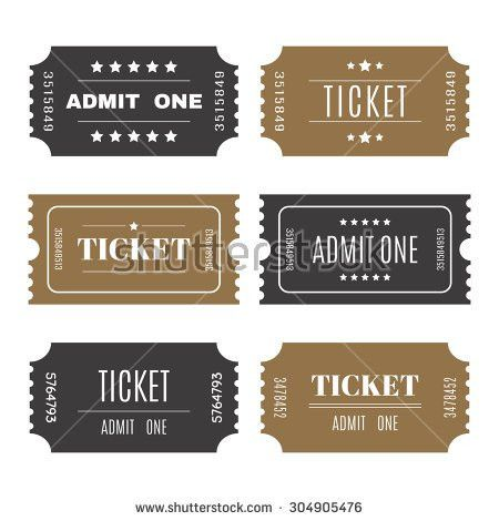 Paper Tickets Numbers Set Vector Templates Stock Vector 304905476 ...