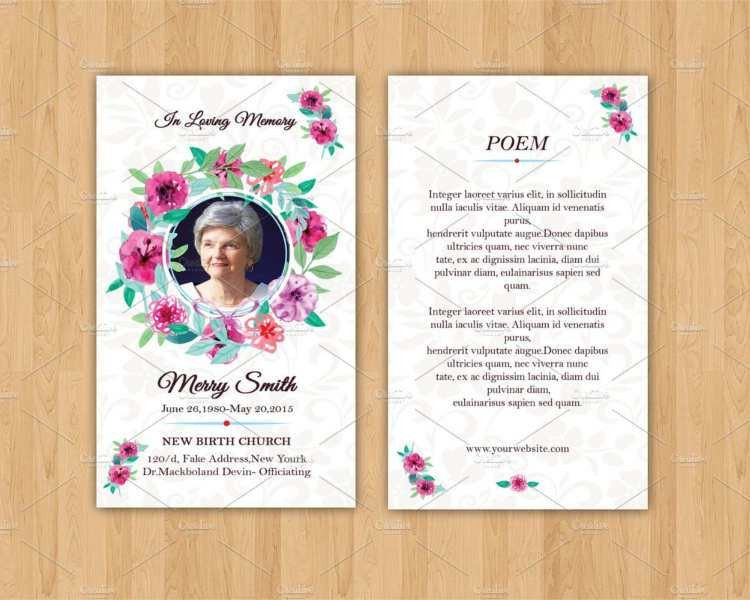 Printable Funeral Card Templates - Free Word, PDF, PSD | Creative ...