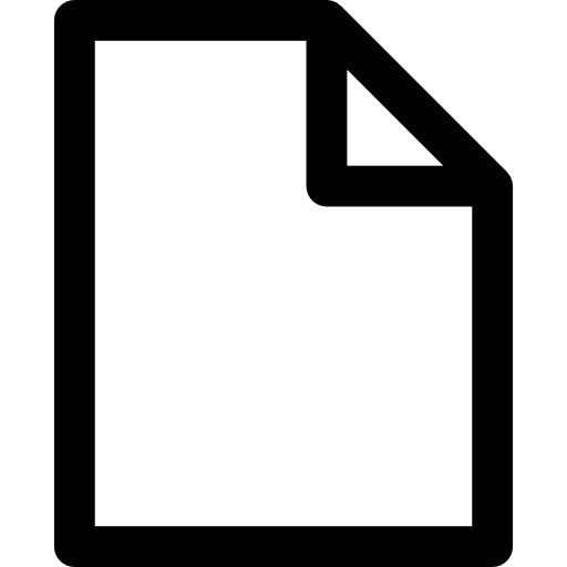 Blank document - Free interface icons