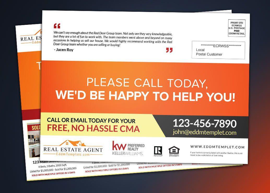 KW williams Preferred Realtor Direct Mail EDDM Postcard Template