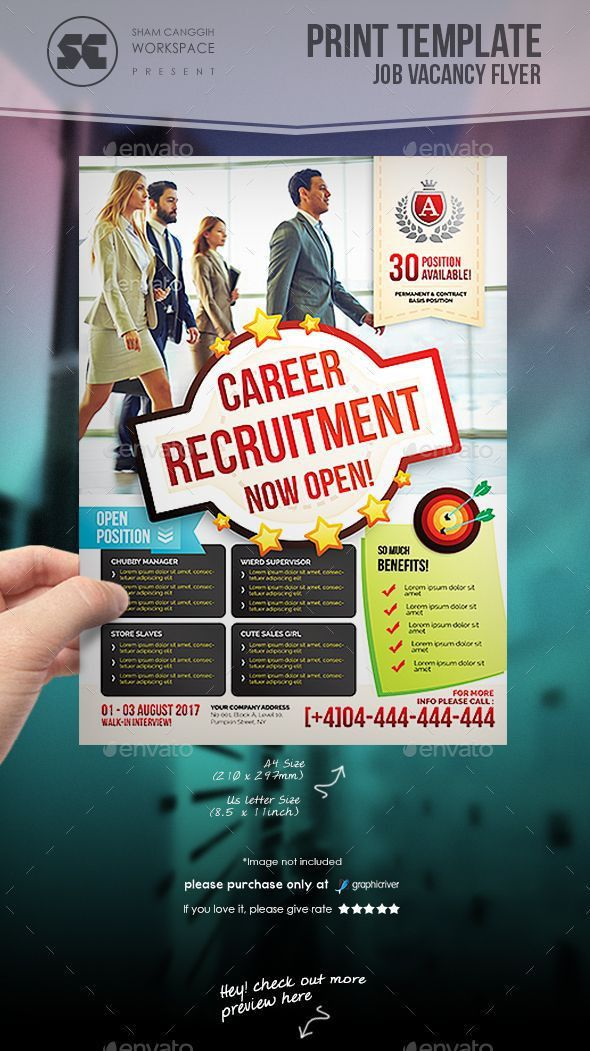 36 best PSD Jobs / Career Flyer images on Pinterest | Flyer ...
